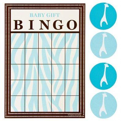 Bingo de la collection à thème Safari Bleu