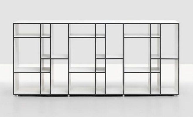 Modernes, niedriges Regal aus Holz - CODE 2 by Nana Gröner - Zeitraum Moebel