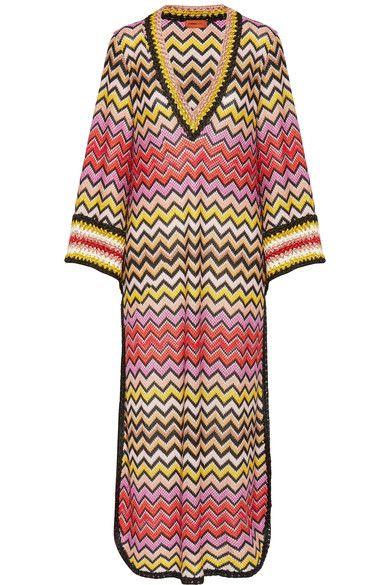 Missoni Mare multicolored crochet-knit caftan