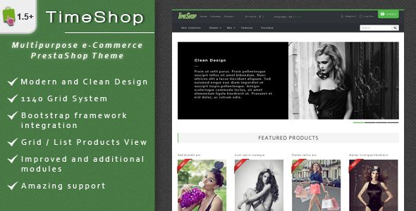 Download TimeShop - eCommerce PrestaShop Theme (PrestaShop) or Buy cheap Free and paid