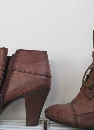 Kup mój przedmiot na #vintedpl http://www.vinted.pl/damskie-obuwie/botki/15767343-botki-na-obcasie-km-fashion-skorzane-jesien-brazowe-39