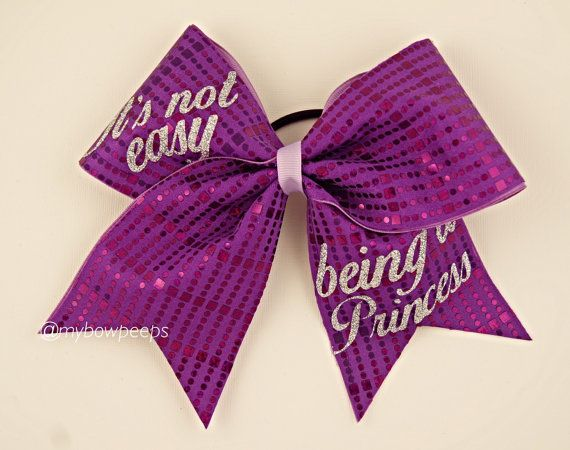 Not Easy Being a Princess Cheer Bow by MyBowPeeps on Etsy
