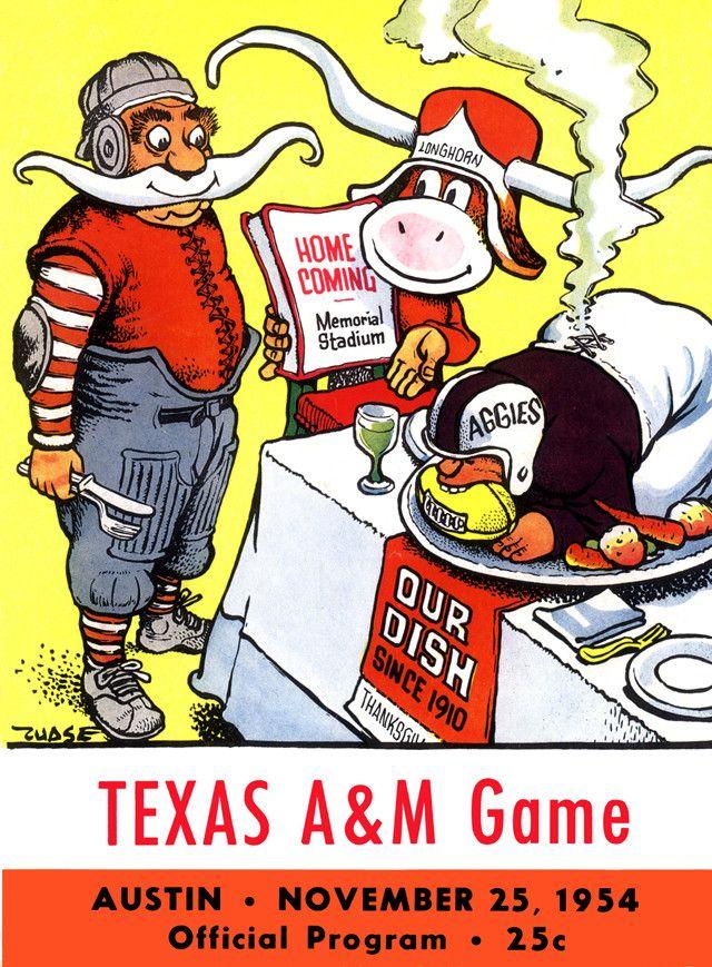 1954 Texas Longhorns vs Texas A&M Aggies 22 x 30 Canvas