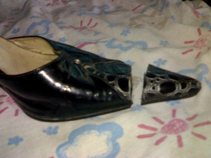 Остальное: превращение старых остроносых туфлей, в новые босоножки! (новая жизнь старой обуви,переделка туфлей,как отрезать острый нос на туфлях,) ФОТО #1