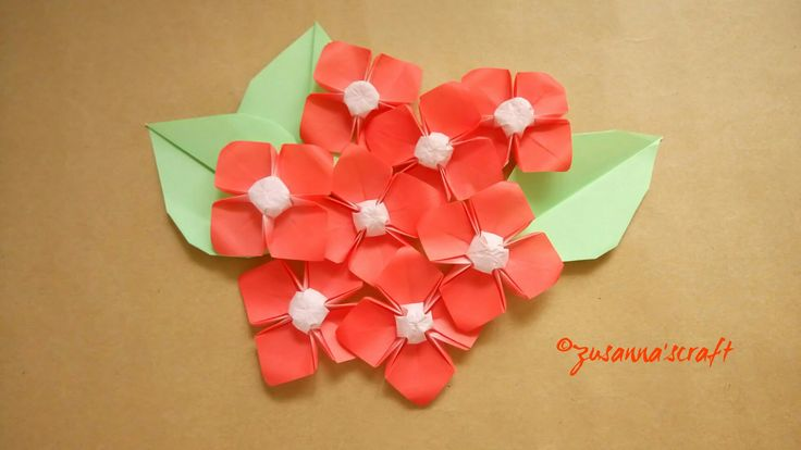 #origami #Dogwood Designer Makoto Yamaguchi  Folded by #zusannascraft Photo by #zusanna'sphotography