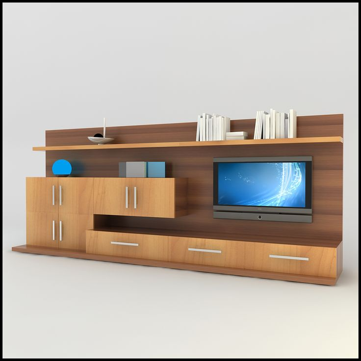 tv / wall unit modern design x_13 entertainment center scene 3d