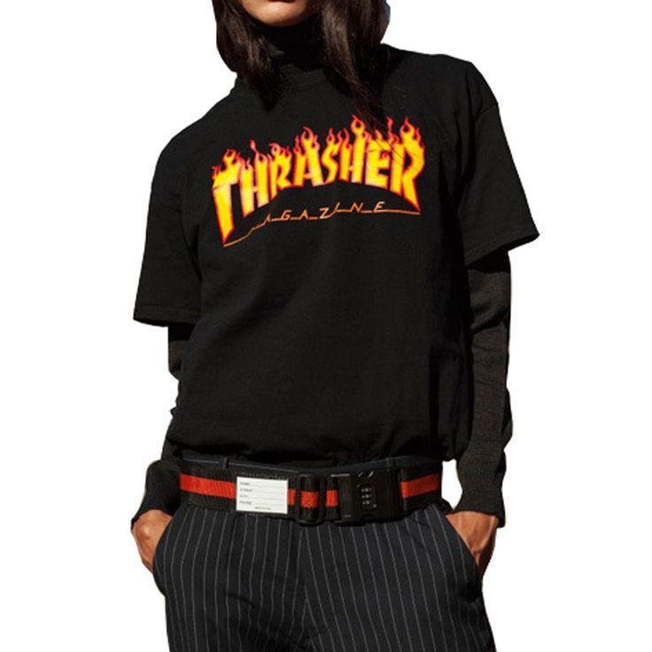 Sir crane thrasher camisetas hombres y mujeres harajuku moda de verano tees camiseta 4 colores de los amantes de manga corta impresa camisetas
