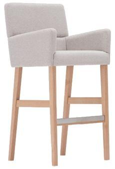 Zap från Paged är en barstol med armstöd där flera olika träfärger och klädselval finns. Ryggen är tvådelad så det går att välja att få ryggen i två olika tyger t.ex. #barstolar #dialoginterior