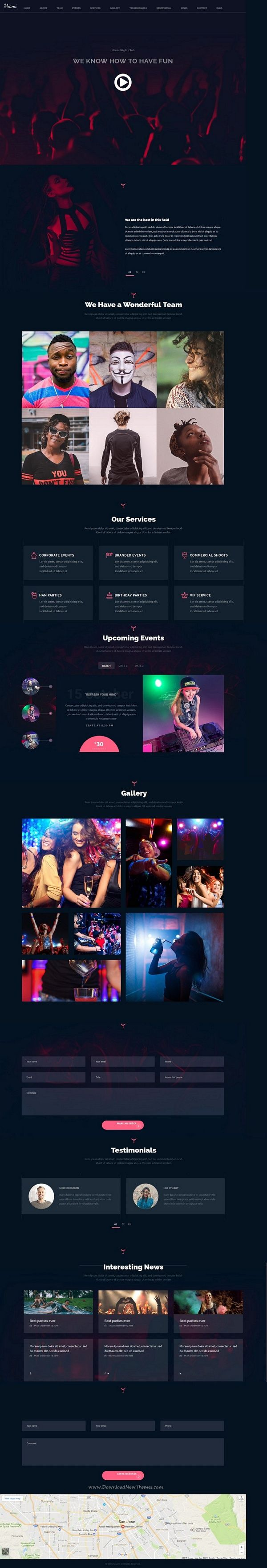 Miami is a powerful 3in1 #Adobe #Muse Template for any kind of Night Club, #Concert or Festival website with a modern design download now➩  https://themeforest.net/item/miami-night-club-responsive-adobe-muse-template/19475557?ref=Datasata