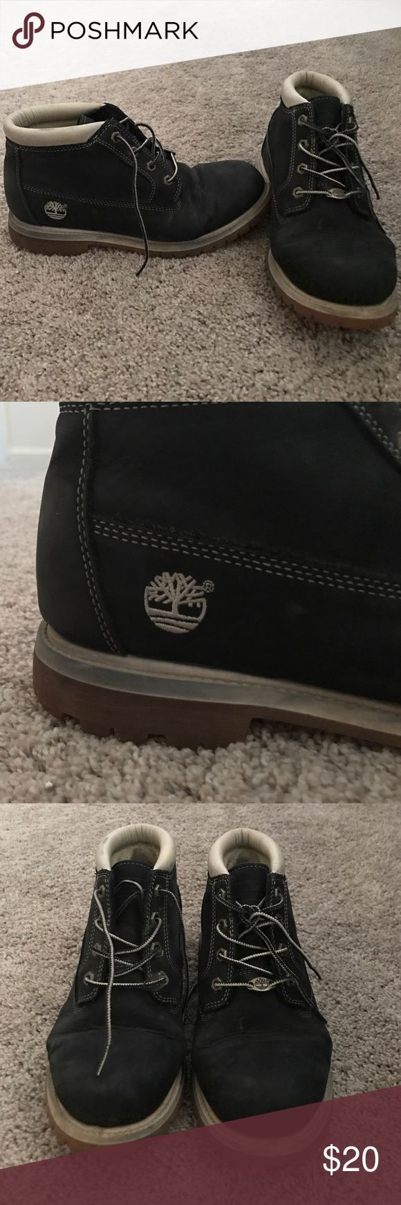 Vintage Tims boots Worn ok condition. If cleaned up would look fantastic. Original laces. Worn a few times in inclement weather but otherwise been sitting around. Timberland Shoes Combat & Moto Boots