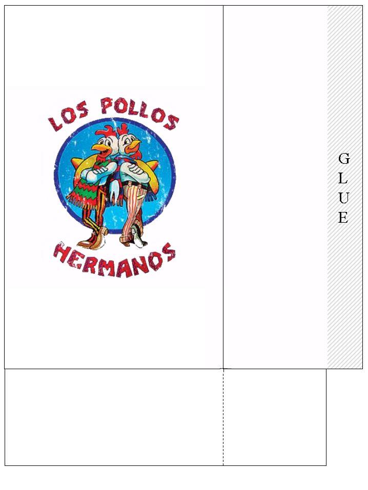 printable los pollos label for a breaking bad party