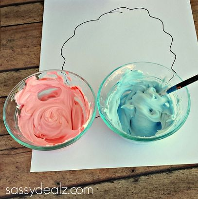 Cotton Candy Kids Craft Using Puffy Paint - Crafty Morning