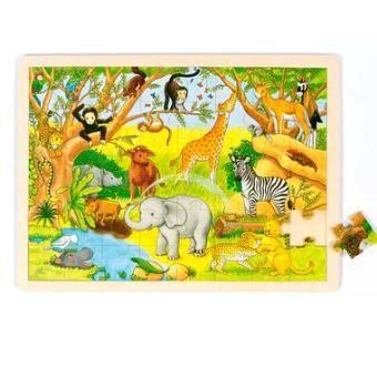 Puzzle 40 x 30 cm Jeu Jouet en bois 48 pièces Enfant 3 ans + Goki._0