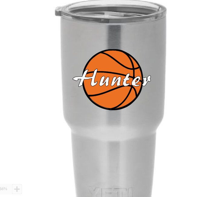 A personal favorite from my Etsy shop https://www.etsy.com/listing/253087443/personalized-basketball-vinyl-cup-yeti
