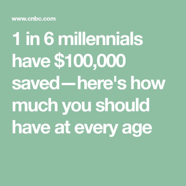 1 in 6 millennials have $100,000 saved—here's how much you should have at every age