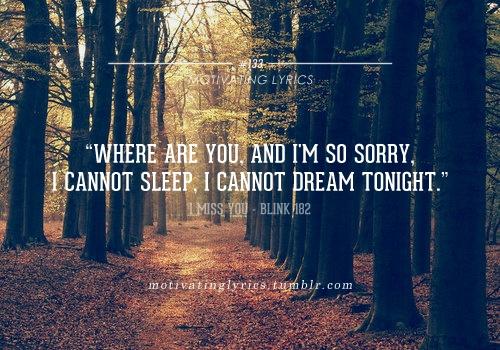 Found on weheartit comBlink 182 Lyrics I Miss You