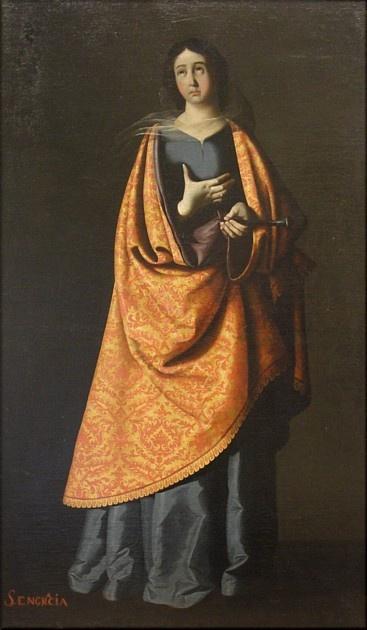 Santa Engracia. (Taller de Zurbarán)
