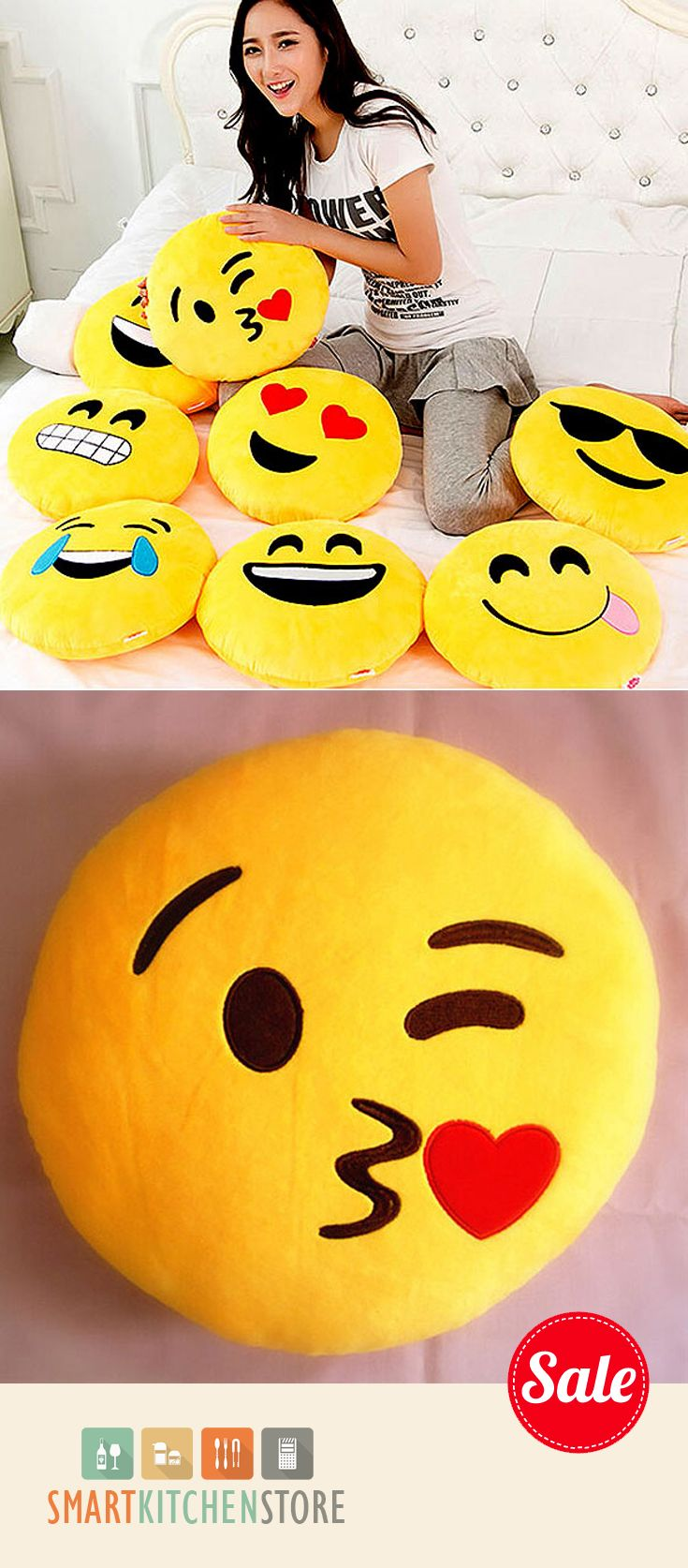 EMOJI PILLOWS! For those people that just love using #emoji - Know someone that over does the use of Emoji's in texting LOL?