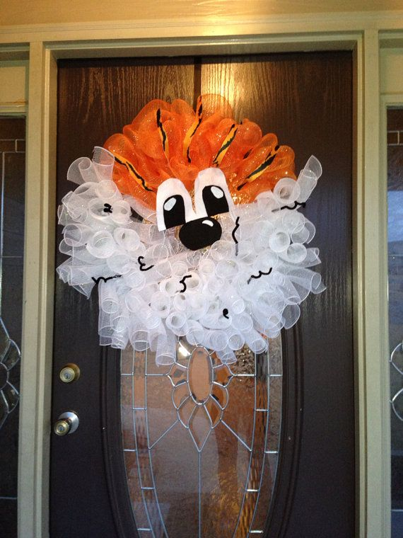Aubie Auburn Wreath by SouthernAdOOrnment on Etsy, $45.00 @Abbie Barnes Pierce
