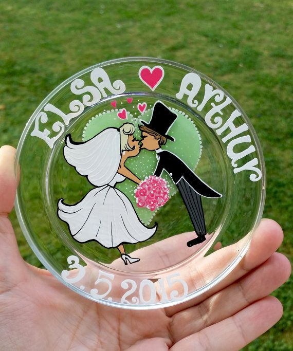 1000+ Images About Wedding Hand Painted Glasses & Plates
