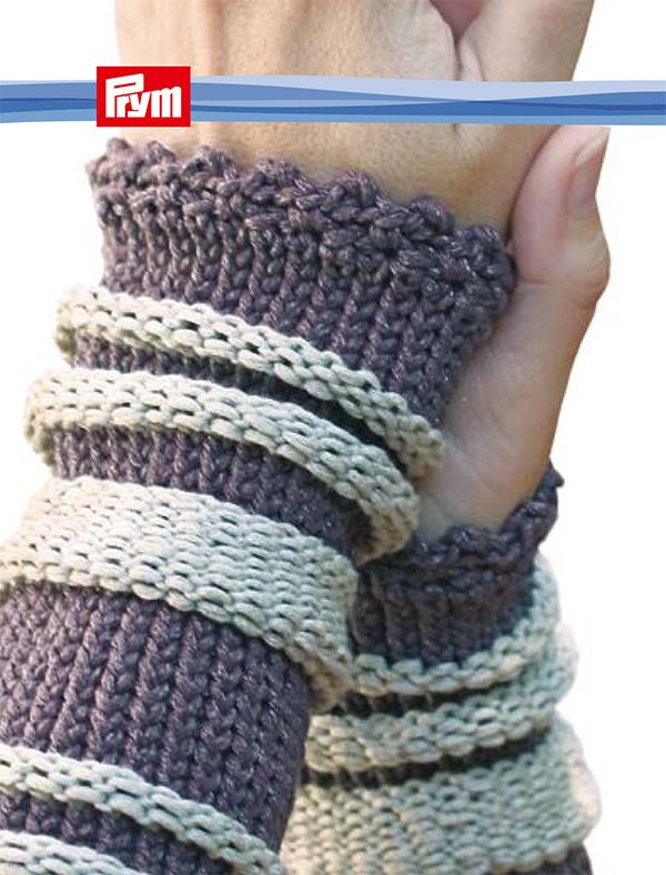 Armstulpe, mit rechten und linken Maschen - Handmade Kultur