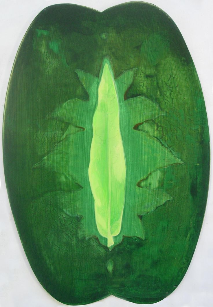 """""""Leaf Shield"""" acrylic on board"""