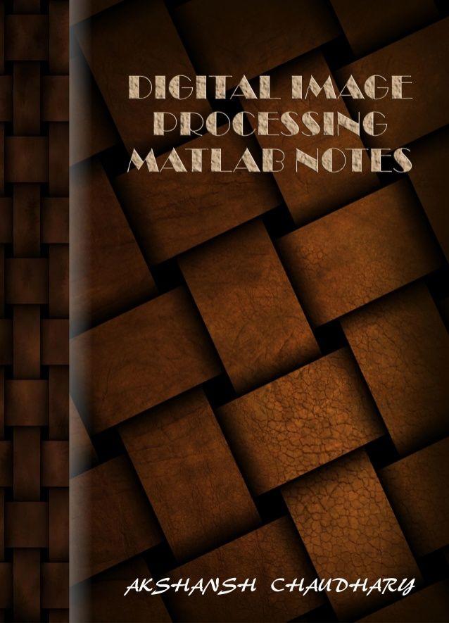 thesis on digital image processing using matlab