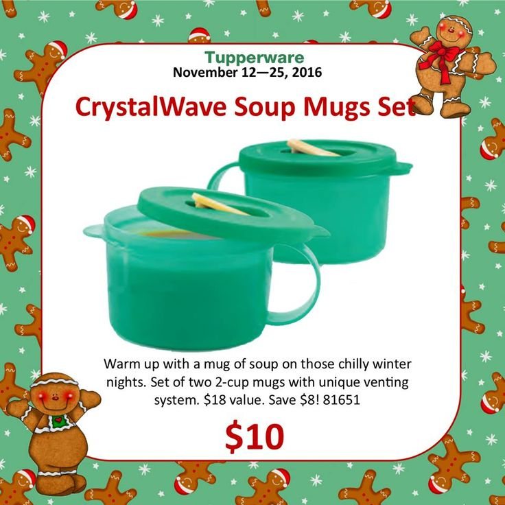 Tupperware Microwave Reheatable Soup Mug Set On Sale for Only $10