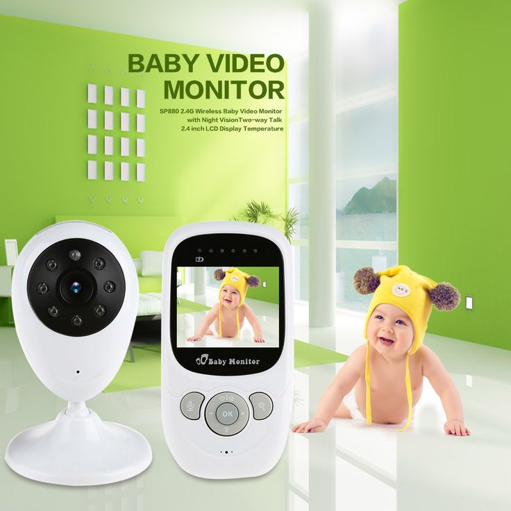 Infant 2.4GHz Wireless Baby Radio Babysitter Digital Video Baby Monitor Audio Night Vision Music Temperature Display Radio Nanny