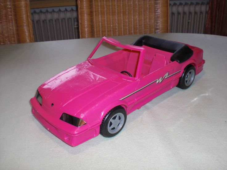 Barbie Ford Mustang Cabrio pink - 1993 - rosa Auto Barbieauto