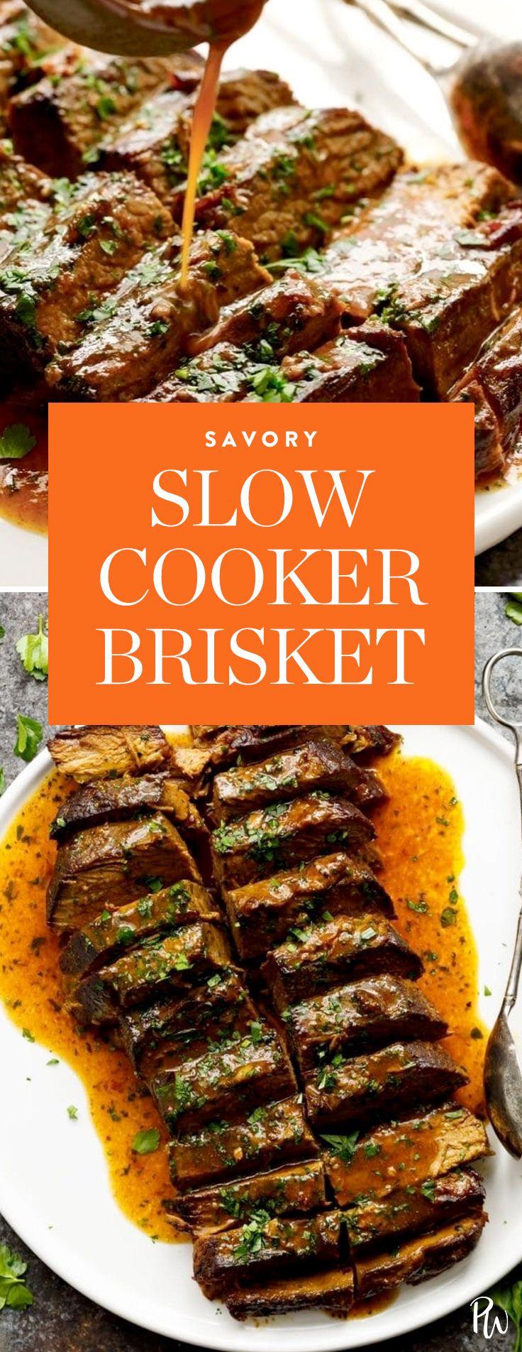Slow Cooker Brisket.