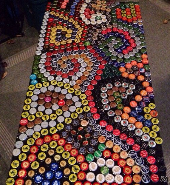 Hey, I found this really awesome Etsy listing at https://www.etsy.com/listing/181770108/beer-bottle-cap-table