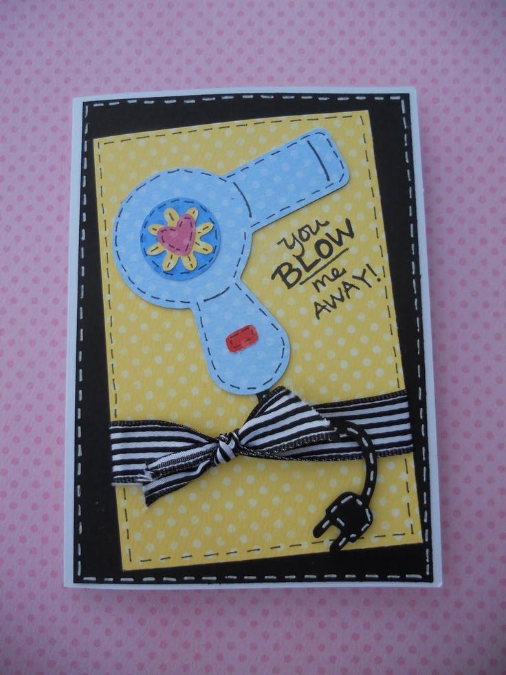 Cricut You Blow Me Away Card. Paisley Cartridge.  *