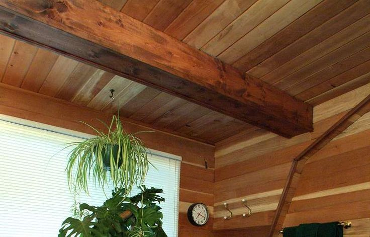 Wood Ceiling Ideas Redwood Paneling Bath Ceiling