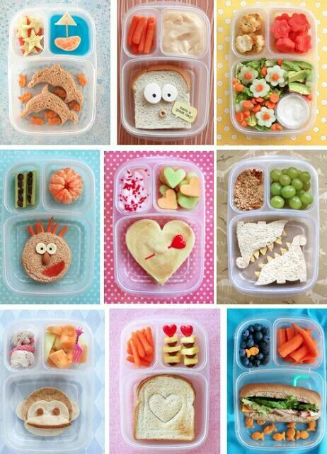 Kids lunches - going to need LOTS of cookie cutters!