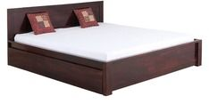 Buy Robinson Solid Wood King Sized Bed with storage in Passion Mahogany Finish by Woodsworth by Woodsworth online from Pepperfry. ✓Exclusive Offers ✓Free Shipping ✓EMI Available