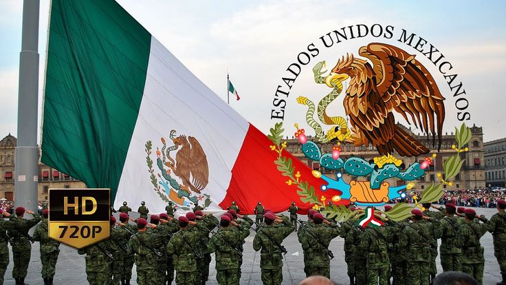 "Canto a la Bandera de México ᴴᴰ ""Oh! Santa Bandera!"""