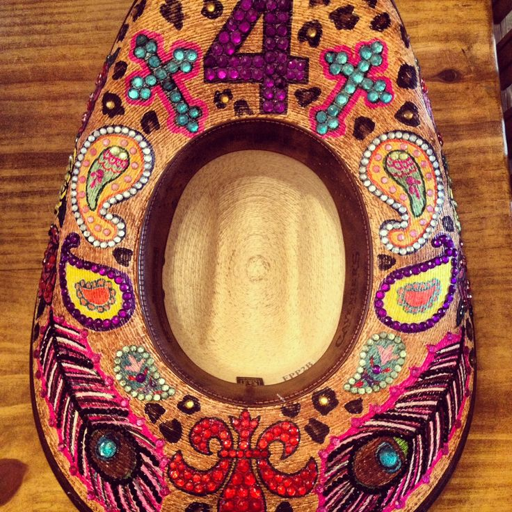 Glam Custom Hats! Hand painted for the cowgirl in us all! Find them on FB.