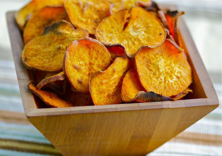 Recipes for healthy chips made of kale, carrots, parsnips, sweet potatoes, beets and plantains. (from NPR)