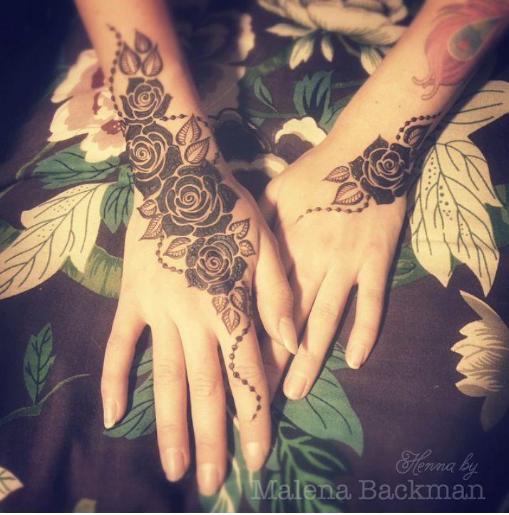 roses - mehndi designs