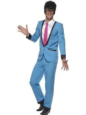 Men-039-s-50s-1950s-Teddy-Boy-Suit-Buddy-Fancy-Dress-Costume-by-Smiffys-New