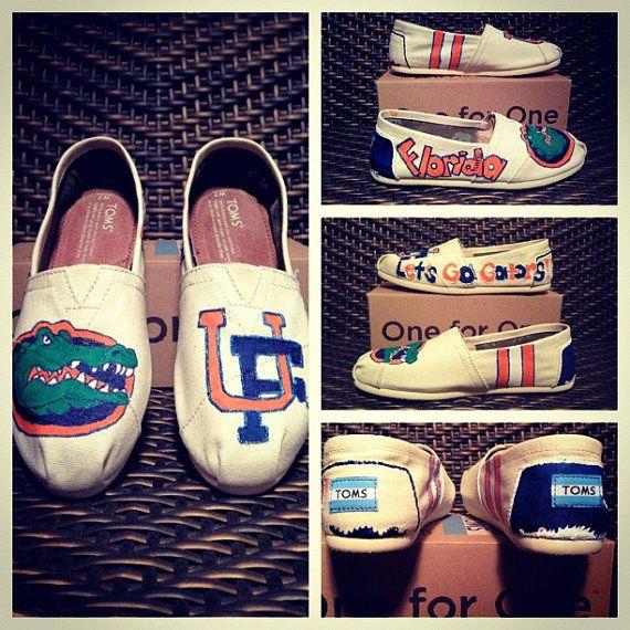 University of Florida Custom TOMS, Vans, Keds or Converse on Etsy, $103.00