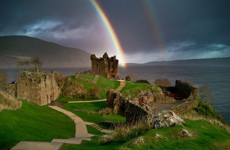 Urquhart Castle and Loch Ness beyond. Photo: Peretz Partensky