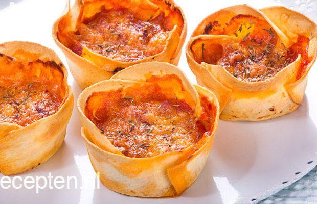 Mini lasagne - Volrecepten.be