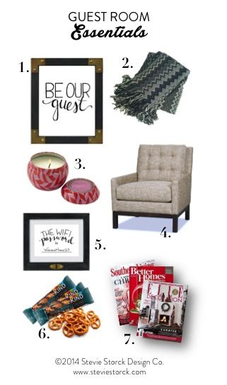 "7 Essentials for your guest room, plus a FREE printable ""The Wifi Password Is..."" art print!"