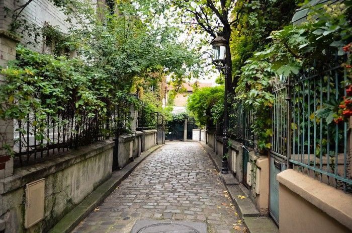 Les rues les plus insolites de Paris : square des Peupliers (13ème) Métro : Tolbiac