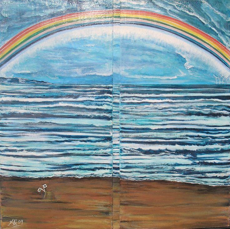 A Rainbow - Hoarding work in situ