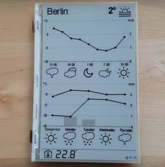 A very cool-looking weather station using the ESP8266 WiFi module chip and a high resolution 7.4″ a-Si TFT active matrix Electronic Paper Display (EPD) module from Pervasive Displays shared by andrei7c4. The weather data are gathered from OpenWeatherMap service. Most of the time the device stays in deep sleep mode consuming only 18 µA. While updating the weather power consumption varies from 80 to 150 mA. Update operation takes a few seconds, depending on WiFi router, DHCP server and…