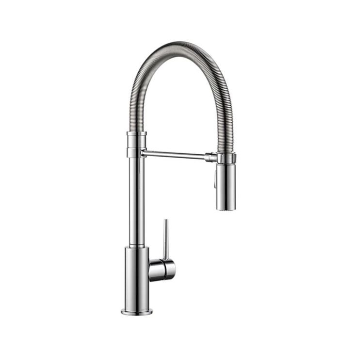 9659-DST Trinsic Pro Single Handle Pull-Down Kitchen Faucet With Spring Spout : Kitchen Products : Delta FaucetAddthisEmailPrintFacebookPinterestTwitterHouzzLinkedIn