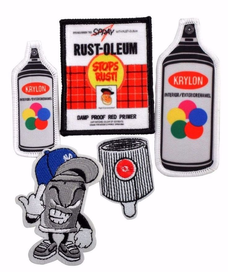 Mad Can 5pc Custom made Graff art Life style iron on's patches Bronx NYC edition #graffitiart #streetart #patches